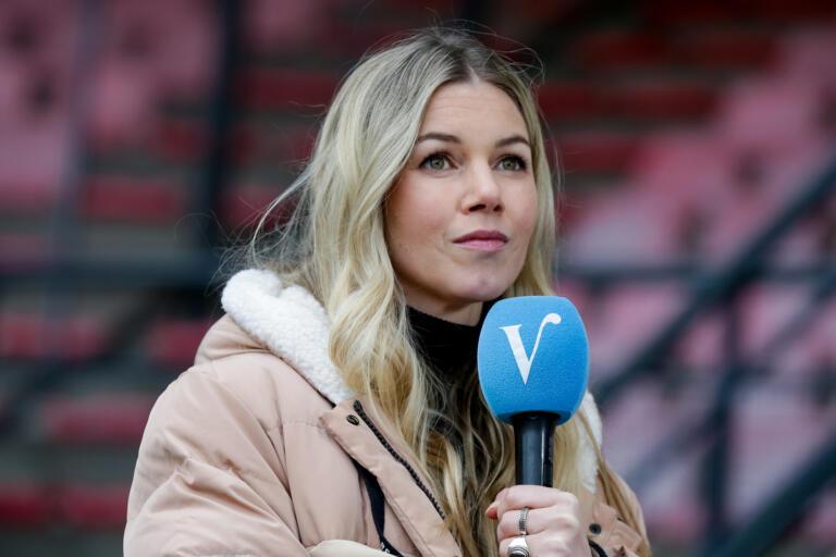 Anouk Hoogendijk in actie namens Veronica