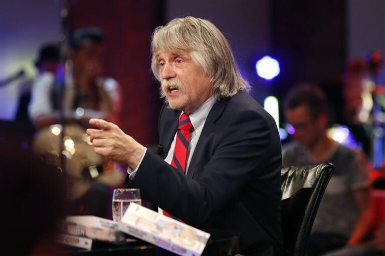 Johan Derksen aan tafel bij Veronica Inside