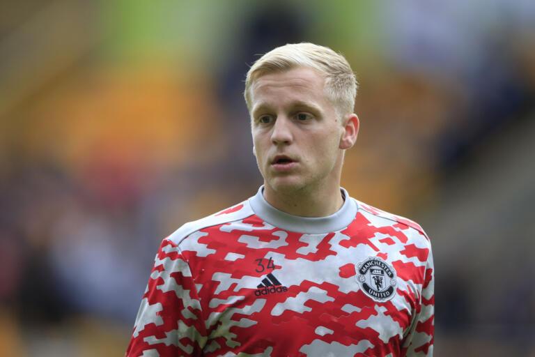 Donny van de Beek bij Manchester United