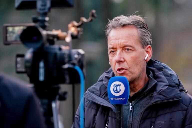 Valentijn Driessen aan het werk voor de Telegraaf
