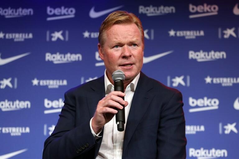 Ronald Koeman, hier nog aan het woord als trainer van FC Barcelona