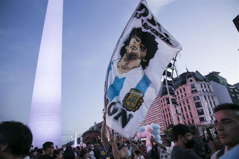 Spandoek van Diego Maradona