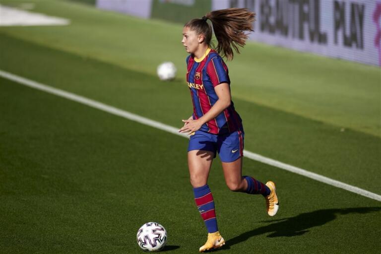Lieke Martens in actie voor FC Barcelona