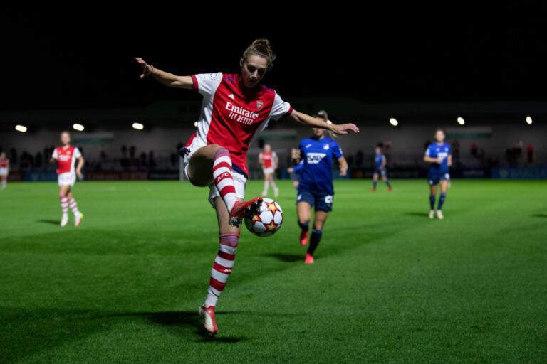 Vivianne Miedema met Arsenal tegen Hoffenheim