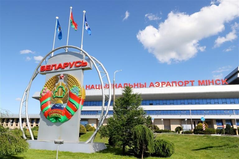 Het vliegveld van Minsk in Wit-Rusland